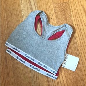 Red and grey 2 pk Calvin Klein bralette